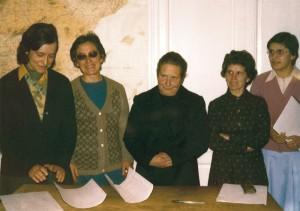 primeros miembros de Lumen Dei: los primeros miembros de la Unión Lumen Dei emiten por primera vez los votos.